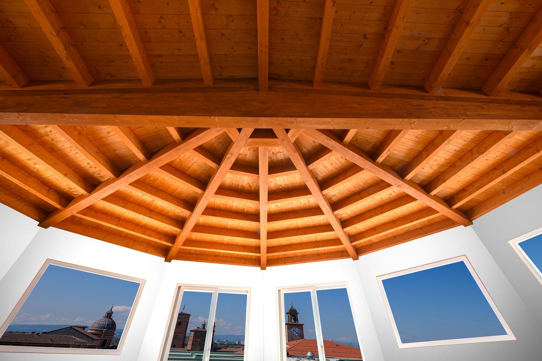 Palazzo Busetti attico soffitto legno