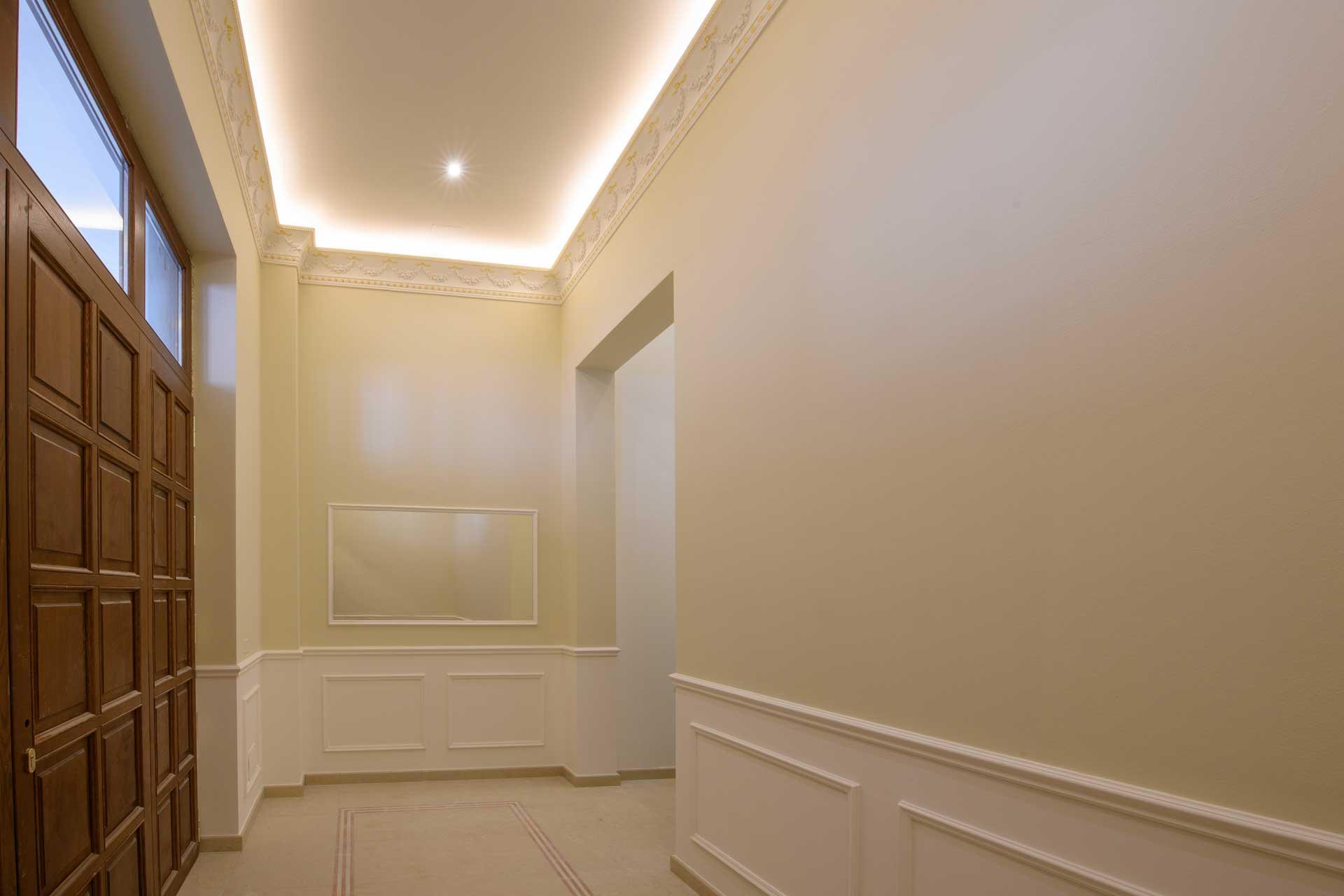Palazzo Busetti soffitto corridoio