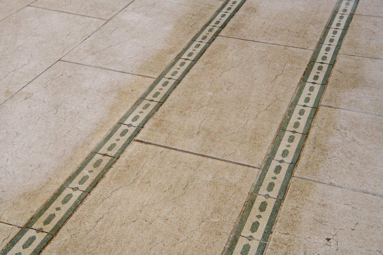 Palazzo Busetti particolare pavimento galleria