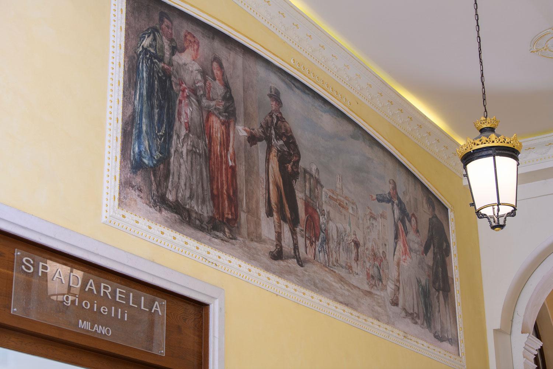 Palazzo Busetti particolare dipinto galleria